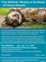 "Take part in a free webinar titled ""All About Animals"""