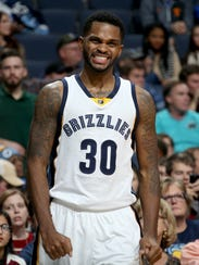 Memphis Grizzlies Troy Daniels reacts during the game
