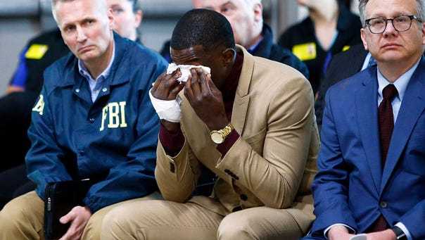 Waffle House hero James Shaw wipes tears away during
