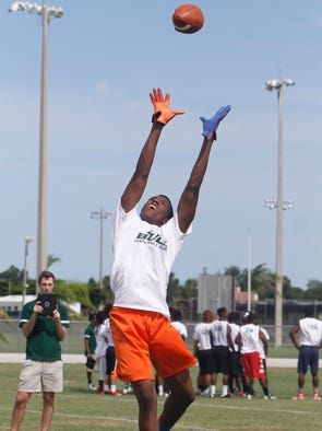 Area high school athletes attended USF football camp at Estero High School Thursday, June 12.