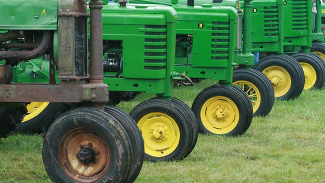 Tractors on display at Calumetville antique show.