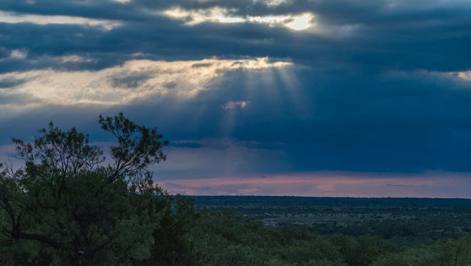 Sunset at the Comanche Crest Ranch in Throckmorton County. The property is up for sale for $13.5 million.