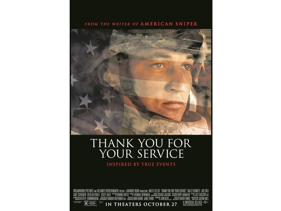 See Thank You For Your Service at a special advance screening on 10/24. 20 Winners!