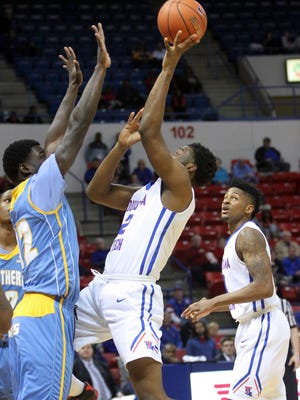 Erik McCree registered a team-high 21 points and 10 rebounds for his third double-double of the season.