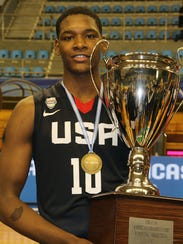 New Haven junior Romeo Weems won a gold medal with