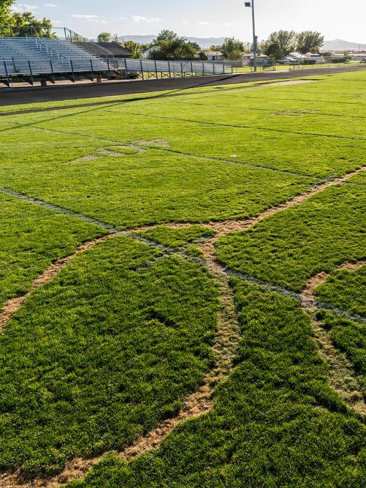 Canyon View football field vandalism