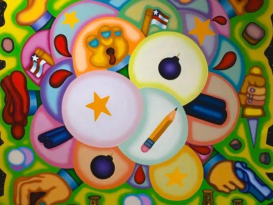 "Jason Stout, ""Shotgun Caesar Tempest,"" oil on canvas,"