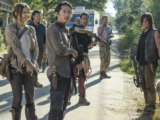 "The fifth season of ""The Walking Dead"" comes to a close March 29."