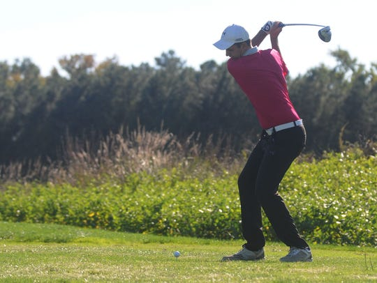 Stephen Decatur's Matt Kristick tees off.