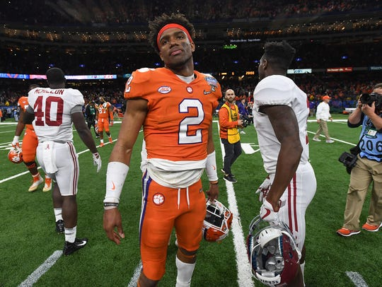 Clemson quarterback Kelly Bryant (2) after the Tigers