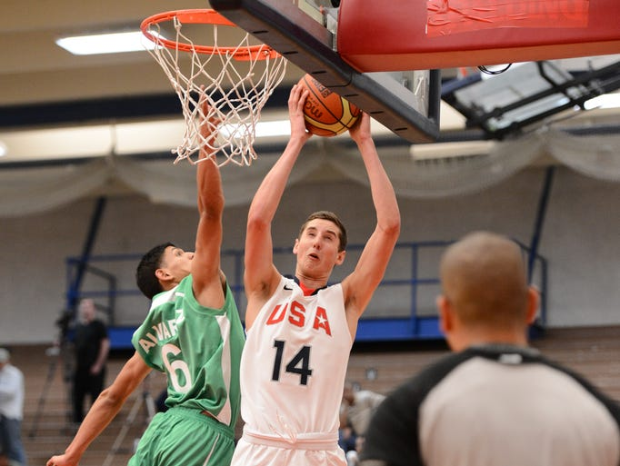 Pine Plains' Tyler Lydon helped the United States Men's Basketball under-18 team win the FIBA Americas tournament championship in Colorado Springs, Colorado on Tuesday night with a 113-79 win over Canada. America won all five of its tournament games, with Lydon leading the team in rebounding, averaging 16.2 minutes, 5.8 points and 6.4 rebounds per game.