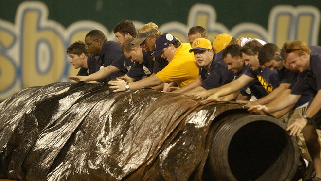 Unlike this game in 2006, the tarp was never moved Friday at Riverwalk Stadium.