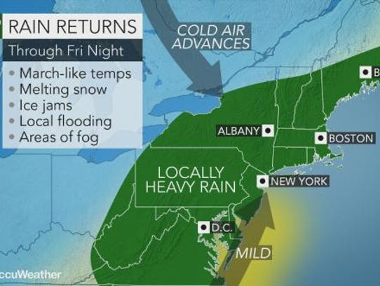 Rain is expected to drench the Lower Hudson Valley