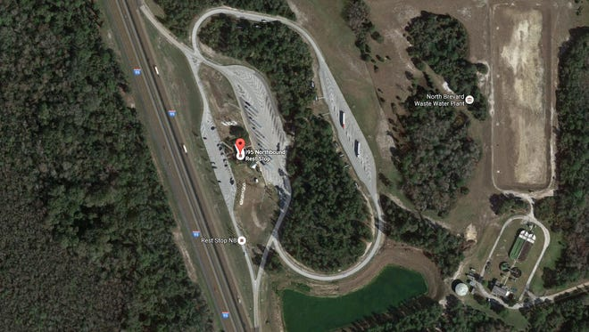 Human remains were found along a walking trail behind the northbound I-95 rest area in Mims.