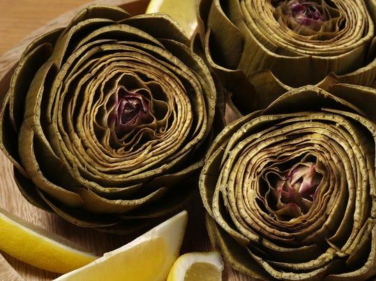 Garlicky lemon tahini sauce transofmrs steamed artichokes