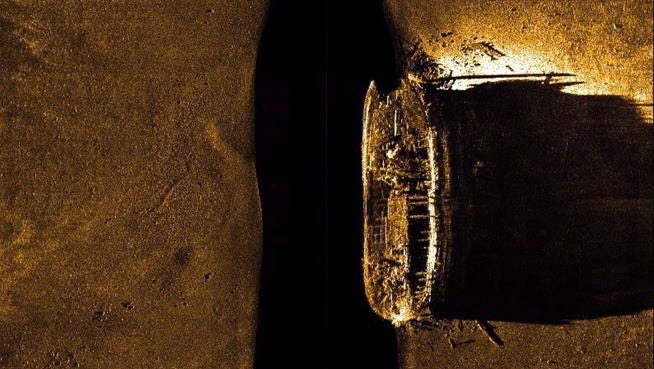 A file shot of the HMS Erebus, found two years in the Arctic. Its sister ship, the HMS Terror, has just been found, too.