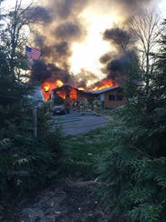 About 40 firefighters responded to a house fire Sunday