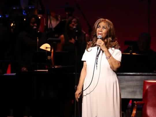 Aretha Franklin performs at the Bardavon 1869 Opera House Gala in Poughkeepsie on March 12, 2017.