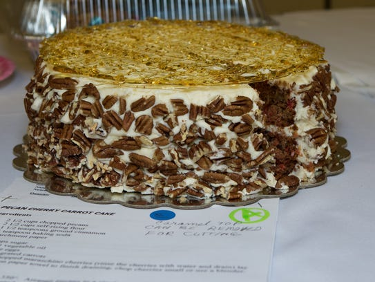 The winning entry in the iced cake division at the