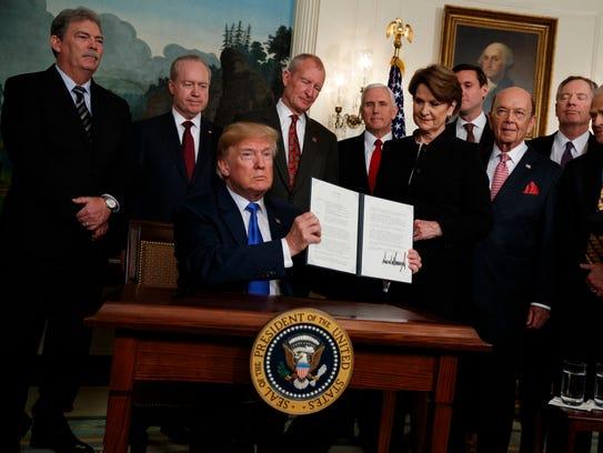 President Trump signs a Memorandum imposing tariffs