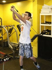 Corning golfer Chris Trifoso trains at Fiorillo Fitness