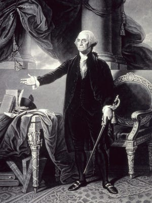 Illustration of President George Washington from the Library of Congress.