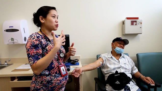Infectious Disease Physician Michele Yamamoto explains the portable IV program at Guam Regional Medical City.
