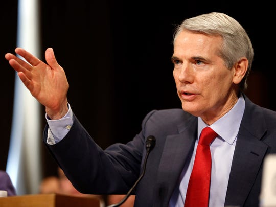 Sen. Rob Portman, R-Ohio, testifies during a recent