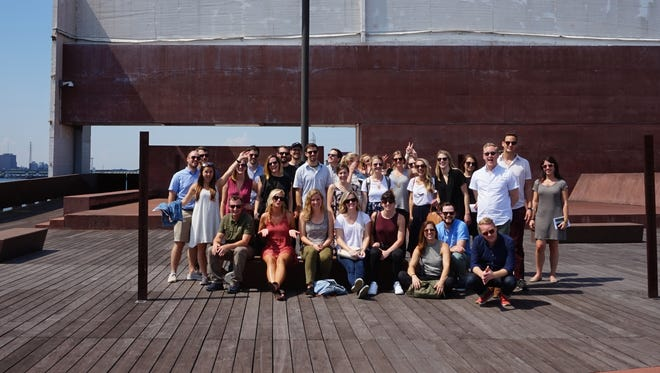 Hastings Architecture's Emerging Professionals group gathers for a photo.