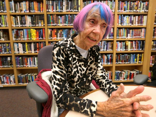 Janet Hawley-Whitmore recounts memories of her life during an interview on Monday, Feb. 8, 2016.