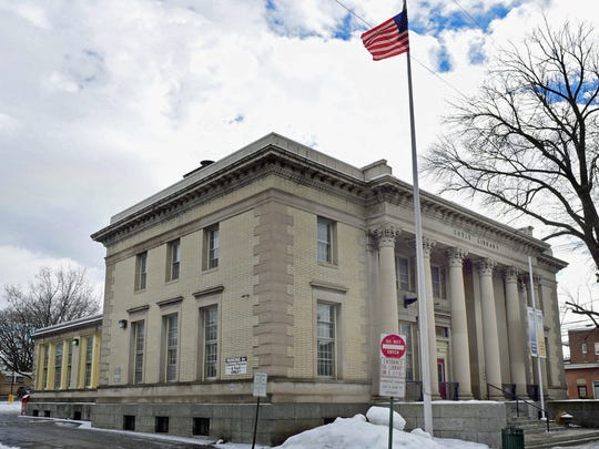 Coyle Free Library, at the corner of King and North Main streets, Chambersburg, is pictured Tuesday, Feb. 16, 2016.
