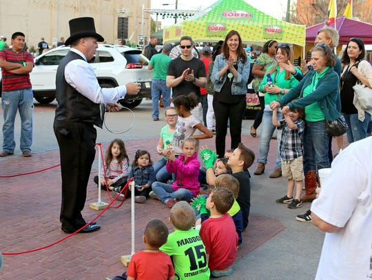 File - Magic, music and merry mayhem will fill Saturday afternoon and evening at the St. Patrick's Day Downtown Street Festival.