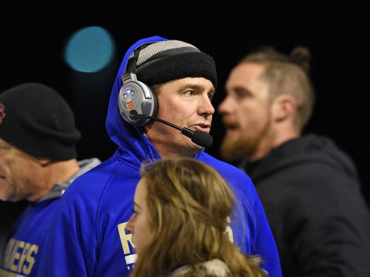 Tony Amantia, in his first season as coach at Reed, has led the Raiders to the Nevada Class 4A state football championship.