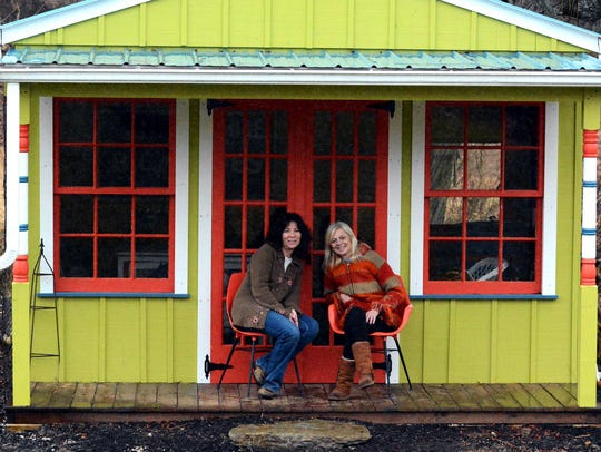 Cross Creek Farm and owner Carolyn Bupp, left, and
