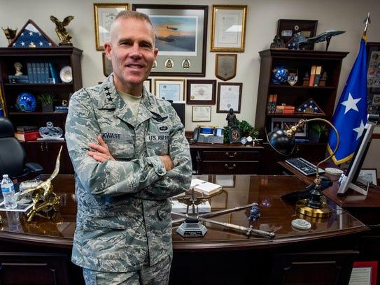 Lt. Gen. Steven L. Kwast, the outgoing Commander and