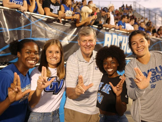 At Grand Valley State University, students take a selfie