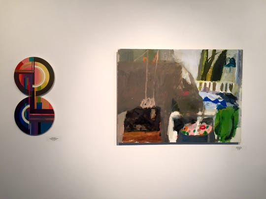 "The paintings of Phyllis Gorsen and Aubray Levinthal in the exhibit ""Nurturing Your Nature"" at ARTSPACE 1241 in Philadelphia."