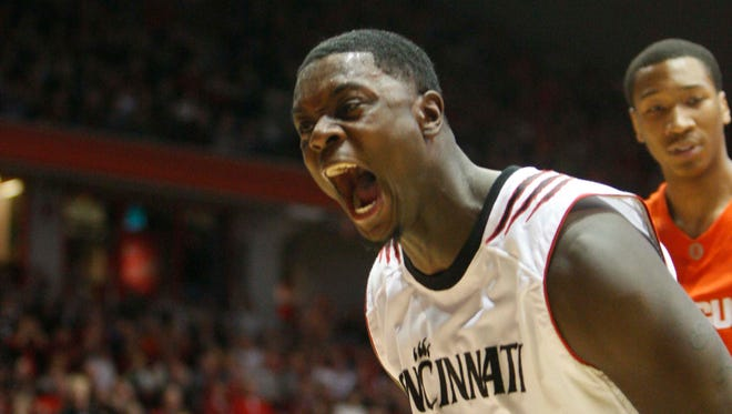 Lance Stephenson (33) yells after a dunk against Syracuse on February 7, 2010 at Fifth Third Arena.