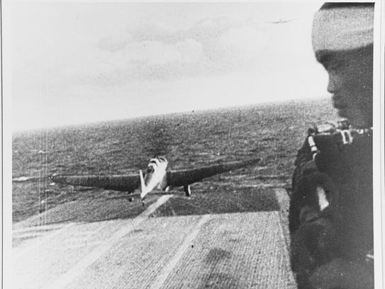 A Japanese Navy Type 97 Carrier Attack Plane (Kate)
