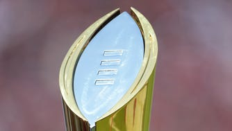 The College Football Playoff trophy is the goal of every team in the selection committee's rankings.
