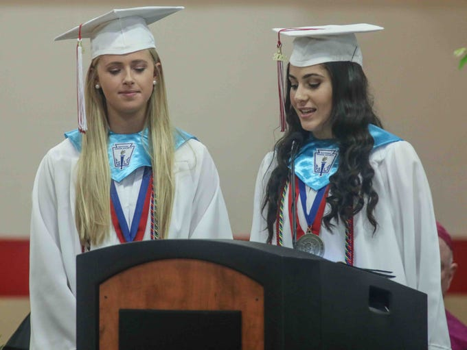 Ursuline Academy Salutatorian's Yara Awad and Olivia