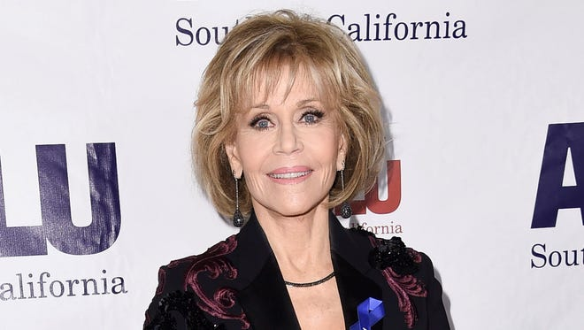 Jane Fonda at the ACLU SoCal's Bill of Rights Dinner on Dec. 3, 2017, used her 80th birthday celebration to raise $1.3 million for her foundation.
