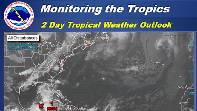 The National Hurricane Center now has an 80 percent chance of tropical cyclone development over the next two days, currently near the Yucatan Peninsula.