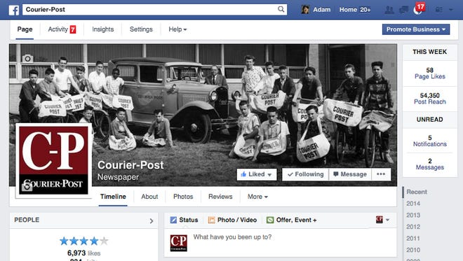 Courier-Post Facebook page