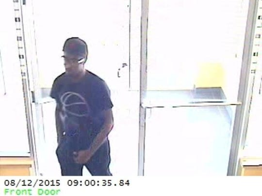 Police say this man robbed the Vibe Credit Union in South Lyon on Aug. 12. He left with just over $8,100 in cash. No weapon was ever displayed.