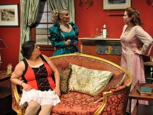 """Erin Simon (left), Kathleen Nolen (middle) and Alecia Lewis (right) perform """"Jenny's House of Joy."""" The City Park Players comedy features an all female cast and will run Thursday through Sunday this weekend."""