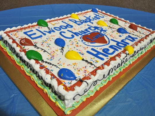 Elwood Baptist Church welcomes Hendrix to VBS with a cake.