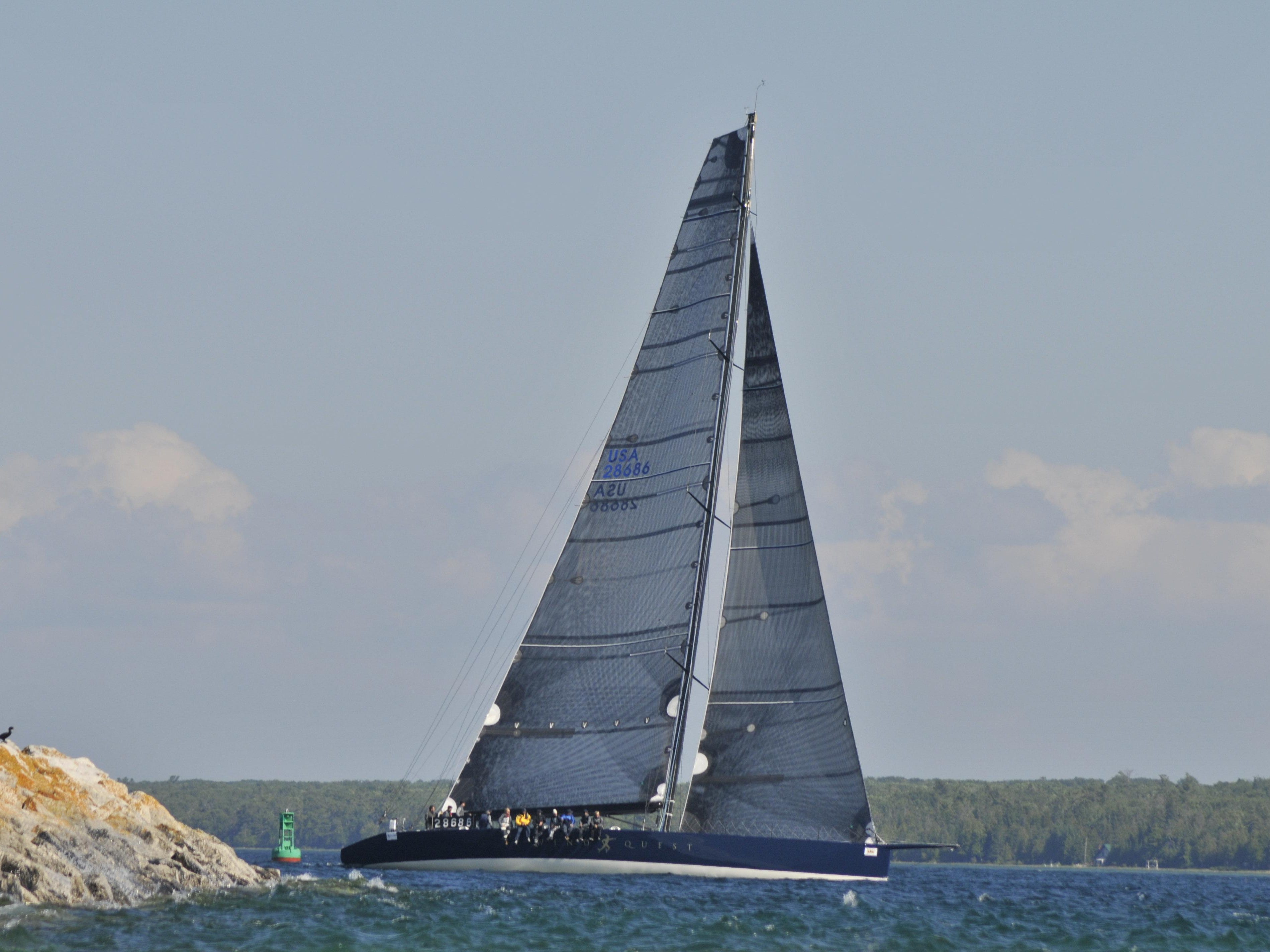 Windquest was the first boat to Mackinac Island this past year.