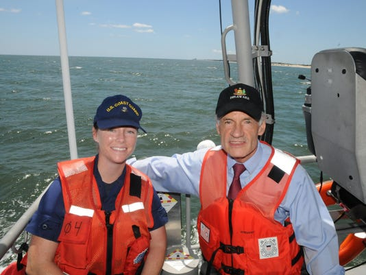 Carper honors coast guard