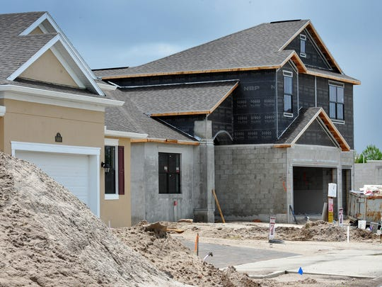 Home construction is continuing in the Strom Park community at Addison Village in Viera.